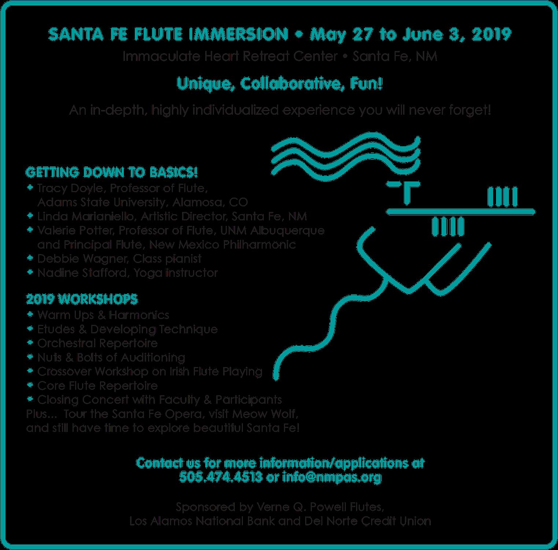 NMPAS Flute Imersion 2019 Flyer